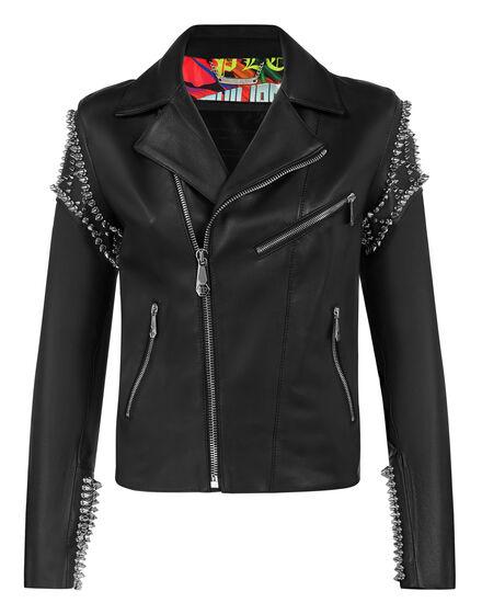 Leather Biker Plein Star