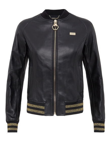 Leather Bomber Jump Out