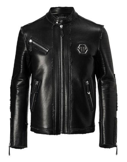 Leather Moto Jacket Cold