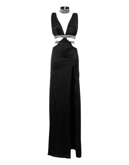 Long Dress Black Stone