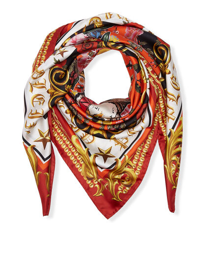Foulard Orange baroque