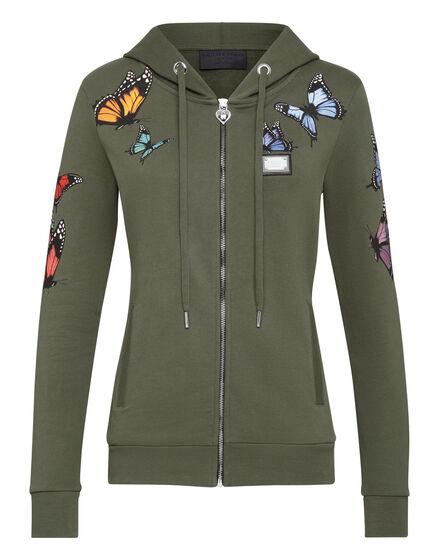 Hoodie Sweatjacket Butterfly