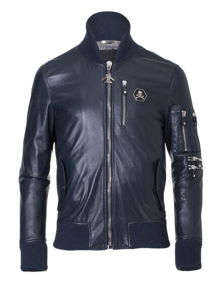 leather jacket hey bomber