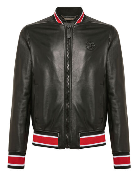 Leather Bomber P.L.N.