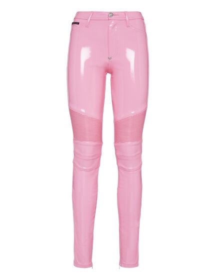High waist Biker Trousers Pink paradise
