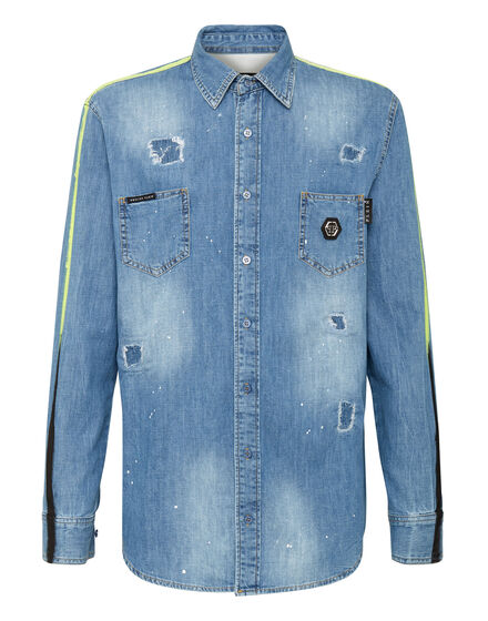 Denim Shirt Ls Stripes