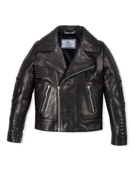Leather Biker Black Evil