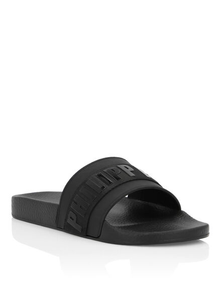 Flat gummy sandals Logos
