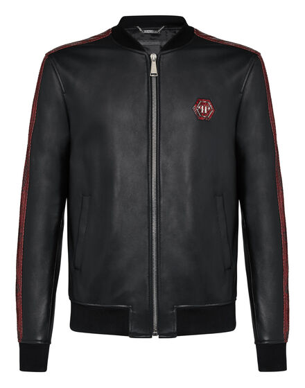 Leather Bomber Luxury -O