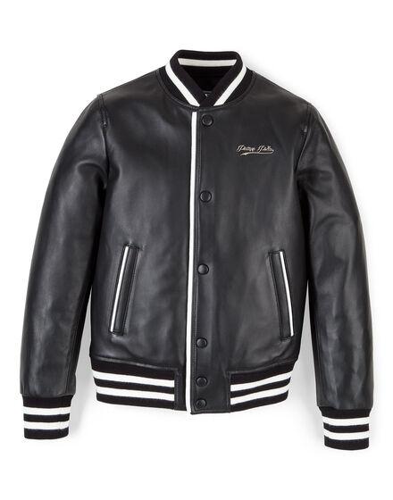 Leather bomber Cali