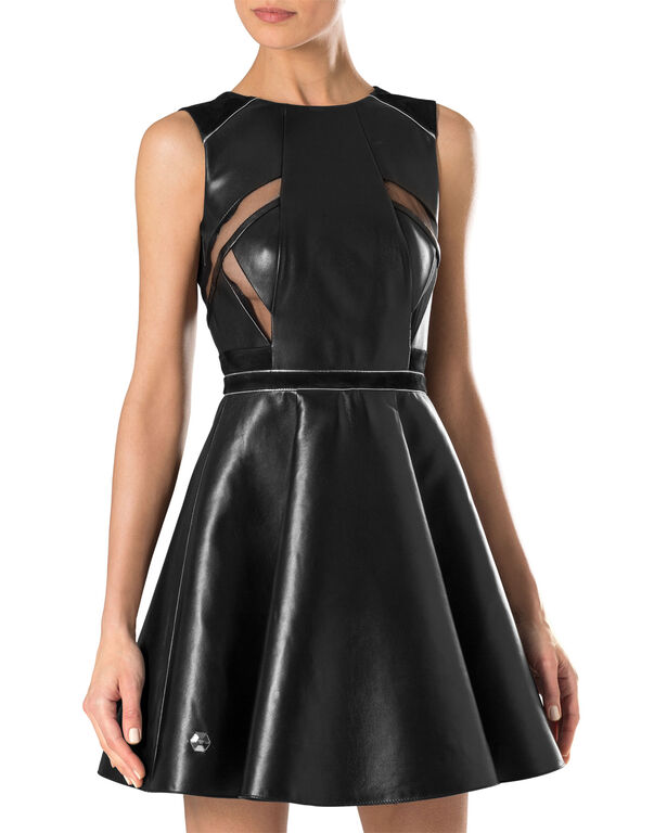 "leather dress ""fierce"""