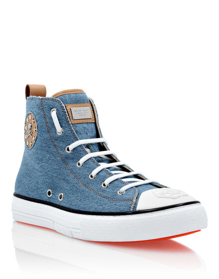 Denim Hi-Top Sneakers Megastar