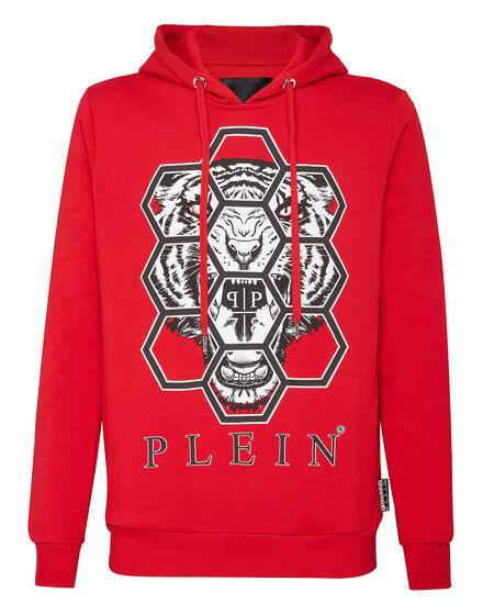 Hoodie sweatshirt Hexagon tiger