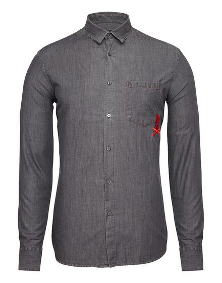 Denim Shirt Ls Crazyness