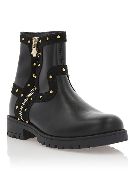 Boots Low Flat With Stones