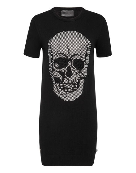 Knit  Dress Skull crystal