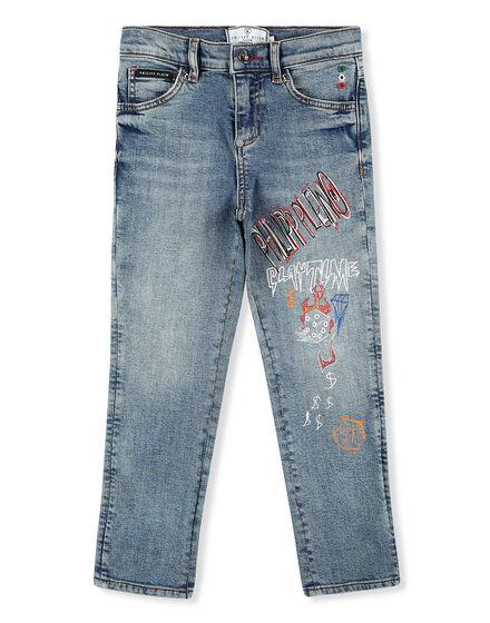 Denim Trousers Graffiti