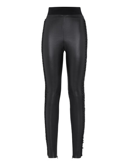 Leather Trousers Long Elegant
