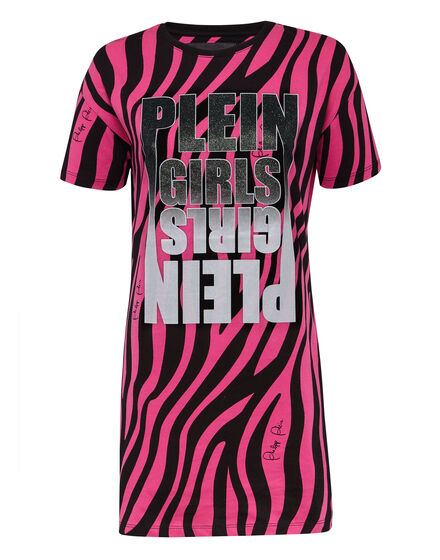 T-Shirt Short Dresses Zebra