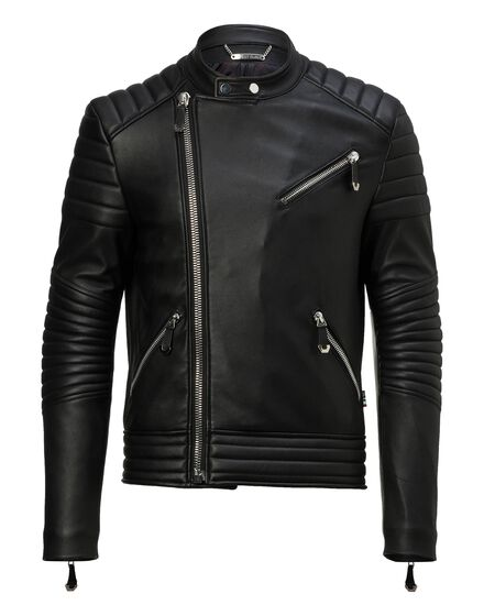 Leather Biker Flying money