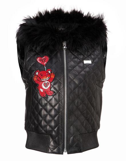 Leather Vest Short Eastony