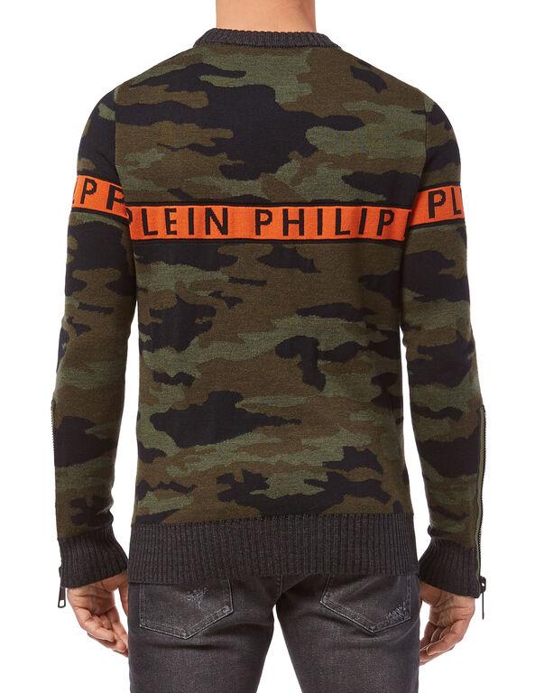 """Pullover Round Neck LS """"Orange line"""""""