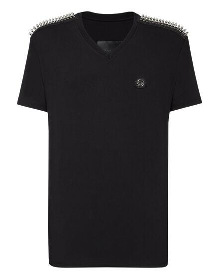 T-shirt V-Neck SS Studs