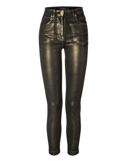 High Waist Jegging Upper Gold