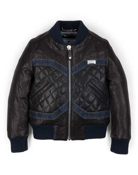 leather jacket baby biker