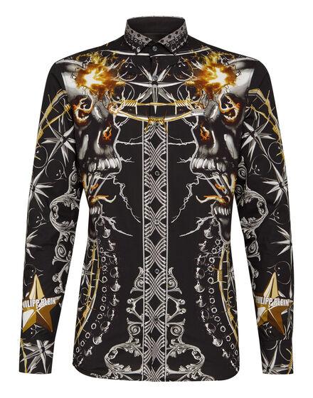 Shirt Platinum Cut LS Foulard texture