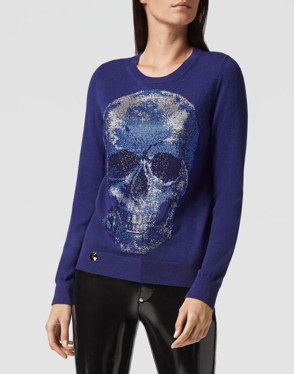 "Pullover Round Neck LS ""Sun"" Skull"