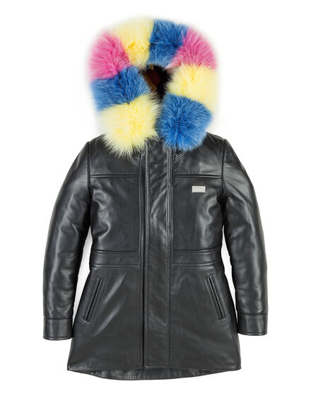 Leather Parka Bright Color