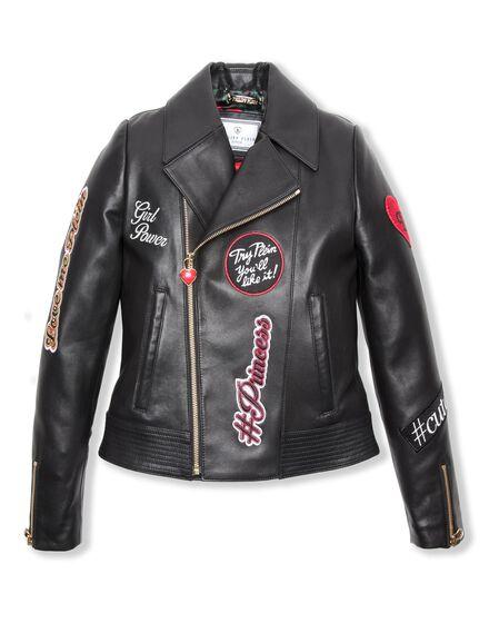 Leather Biker Kiss me