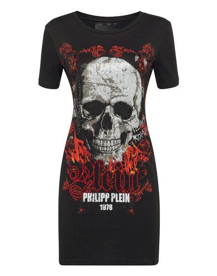 T-shirt Dress Round Neck SS Skull