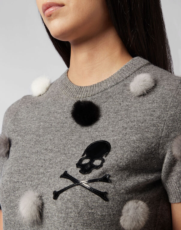 Knit Top Skull