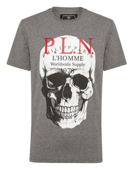 T-shirt Platinum Cut Round Neck Skull