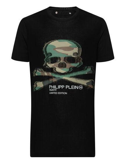 T-shirt Round Neck SS long Skull