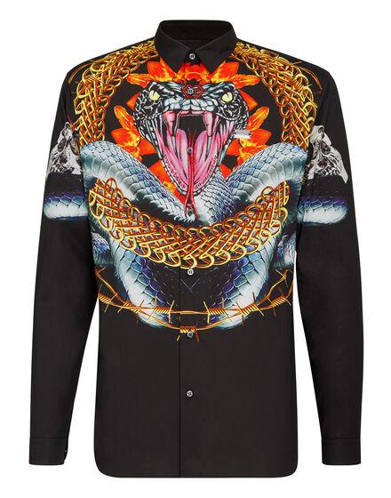 Shirt Crystal cut LS Foulard texture