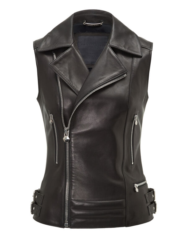 "Leather Vest Short ""Ushers"""