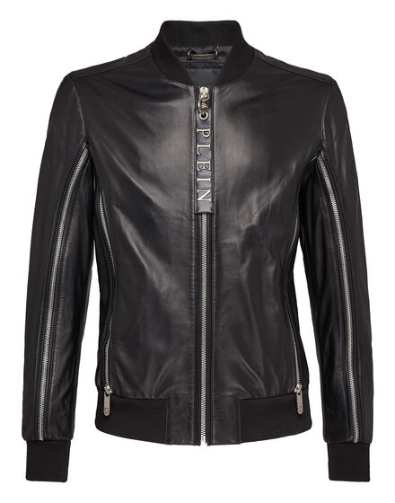Leather Bomber Shake it out