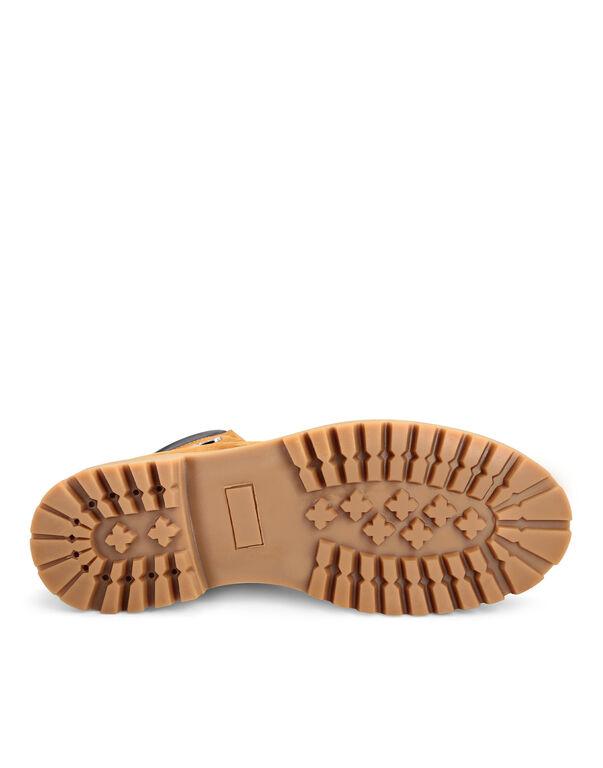 Nabuk Leather Boots Low Flat