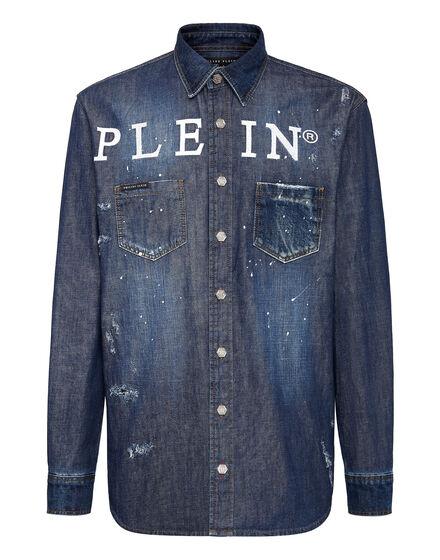 Denim Shirt Ls Iconic Plein