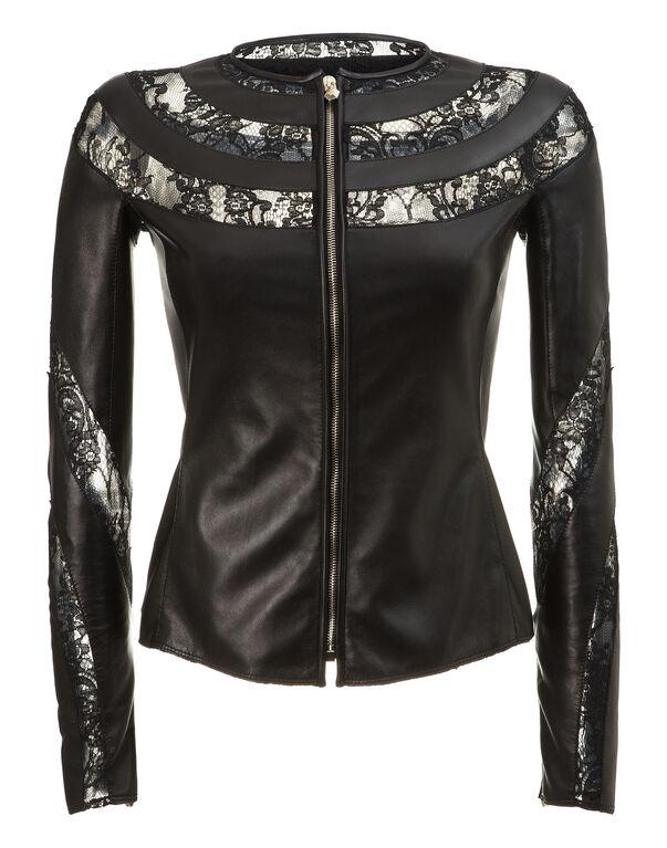 """leather jacket """"visuddha"""""""