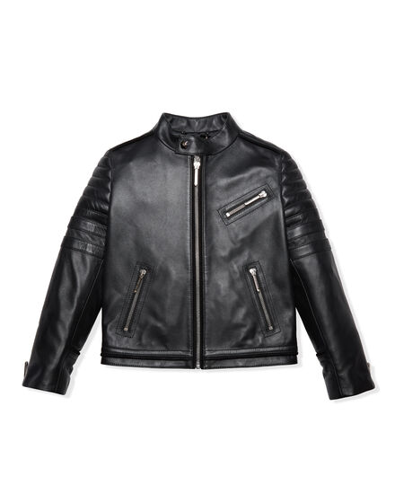 Leather Moto Jacket Gas