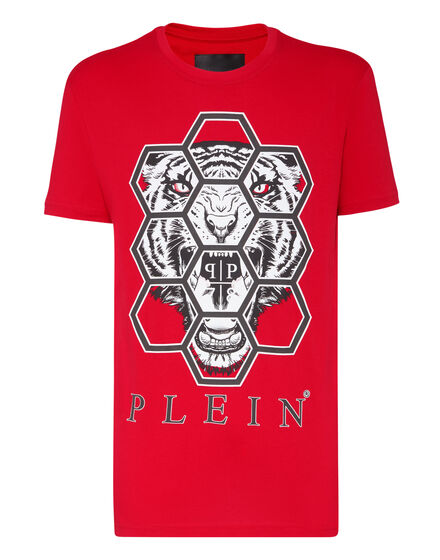T-shirt Round Neck SS Hexagon tiger