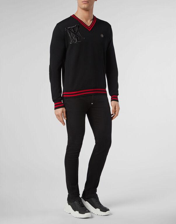 Pullover V-Neck LS Scarface