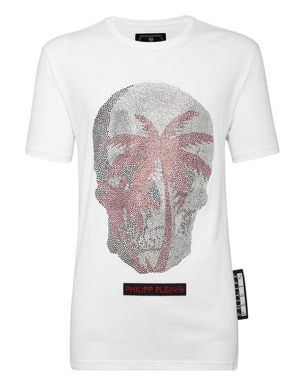 T-shirt Platinum Cut Round Neck Aloha Plein