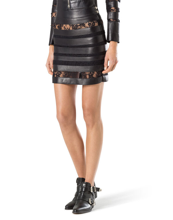 """leather skirt """"provocation"""""""