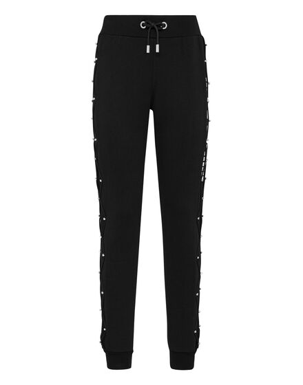 Jogging Trousers Net Crystal Touch Fringe