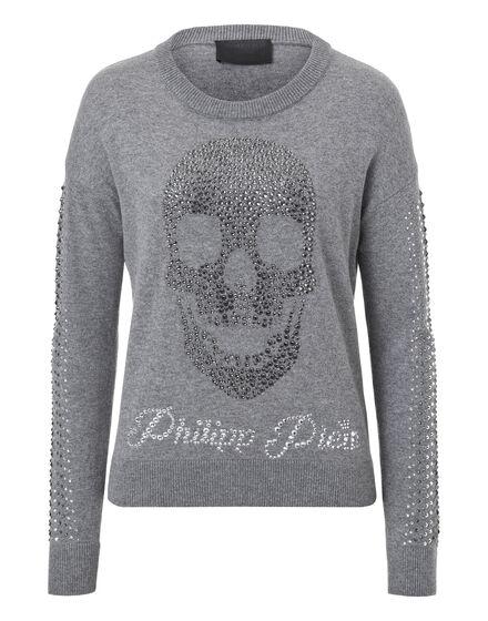 Pullover Round Neck LS Alstar Skull